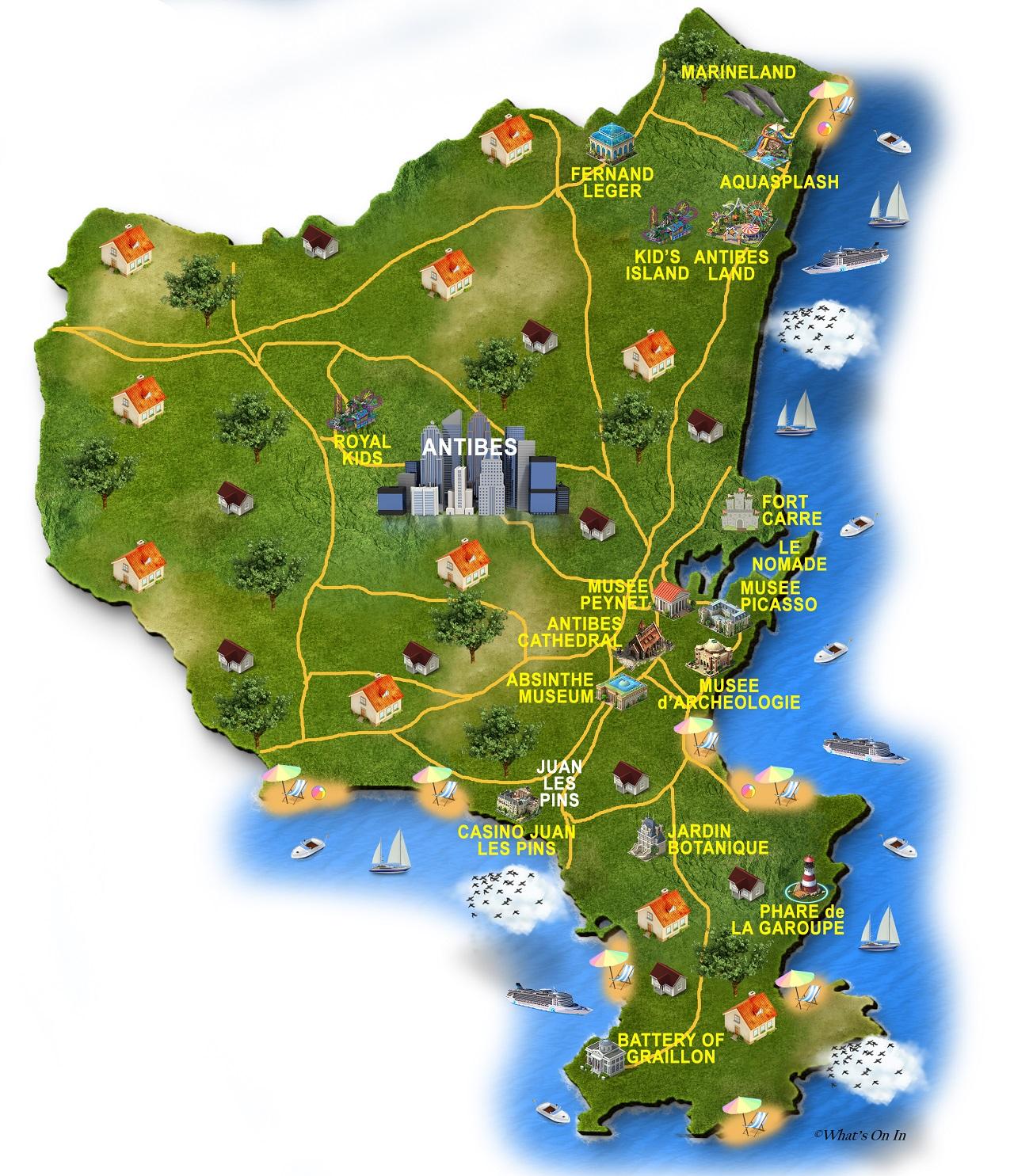 Antibes Map